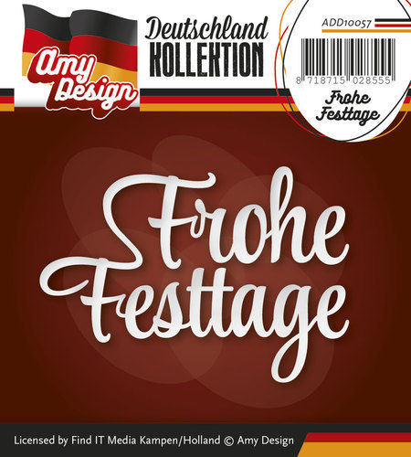 Amy Design Stanzschablone Text Frohe Festtage
