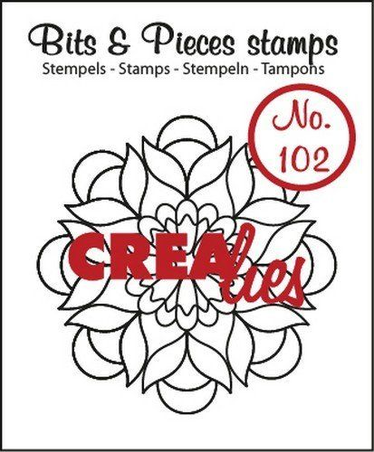 Crealies Clear Stamp Bits&Pieces No.102 Mandala